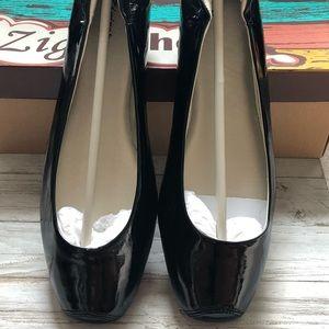 ZigiSoho Faux Patent Leather Black Ballet Flats